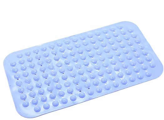 Bath Tub and Shower Mat 71*38CM ,Machine Washable,Anti Bacterial,Phthalate,Latex Free Blue