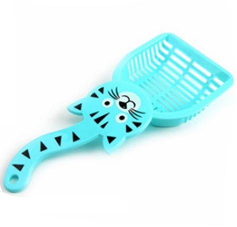Cat Litter Shovel Pet Cleanning Tool Plastic Scoop Cat Sand Cleaning Products Toilet For Dog Food Spoons blue