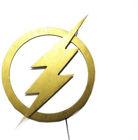 The Flash Logo Lamp Night Lights Justice League Led Illuminated