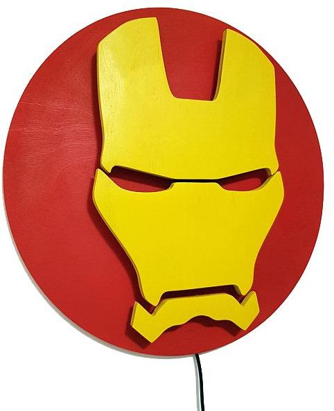 Iron Man Logo Lamp Night Lights Illuminated Superhero Sign Souq Uae