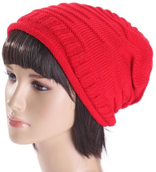 Red Beanie   Bobble Hat For Women  aa0440c0f4b