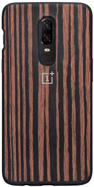 sale retailer 9ea74 ecbb6 Oneplus 6 OFFICIAL BUMPER All Around Protection Back Protective Case -  Ebony Wood