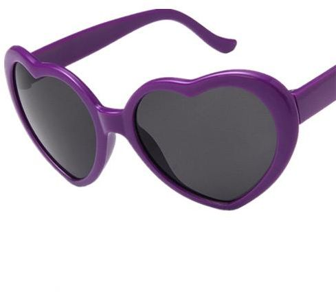 df4674e1bd9 Heart-Shaped Sunglasses Women Vintga Black Pink Red Heart Shape Sun Glasses  purple
