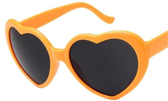 fe5b58cfe11 Heart-Shaped Sunglasses Women Vintga Black Pink Red Heart Shape Sun Glasses  orange