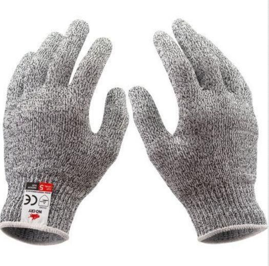 Gray Anti-Slash Gloves Stainless Steel Wire Safety Cut Resistance