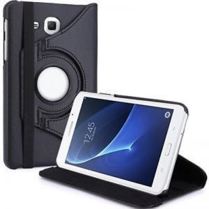 360 Degree Rotating Stand Flip Case Cover For Samsung Galaxy Tab A T280/T285 Black