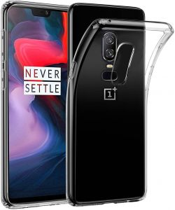 "For Oneplus 6 Silicone Cover Clear Transparent Soft TPU Case for One Plus 6 1+6 Case 6.28"" Protective Back Cover"