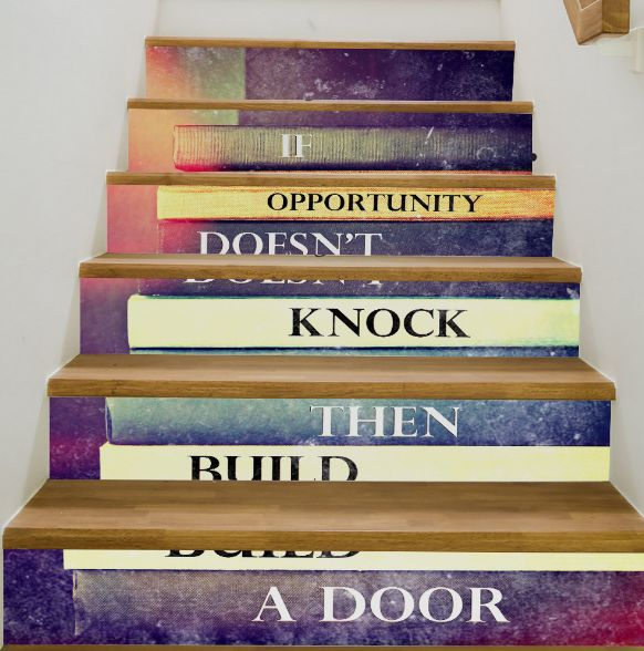 3d Stairway Wallpaper Inspirational Books Home Stairs Wall Sticker
