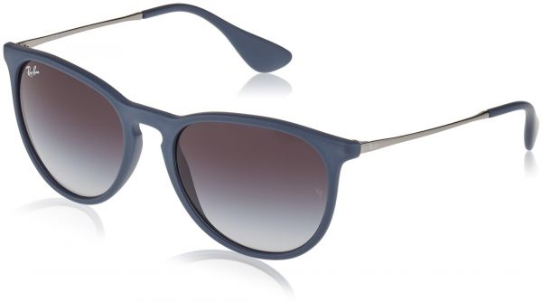 85cf6a7c49 Ray-Ban ERIKA - RUBBER BLUE Frame GREY GRADIENT Lenses 54mm Non-Polarized