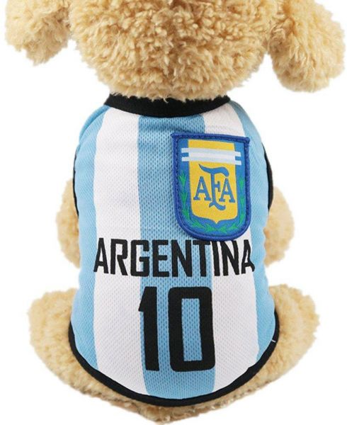 02dc9a27f70 Pet Clothes Football T-shirt Dogs Cats Costume National Soccer World Cup  FIFA Jersey for Pet Argentina-M Size