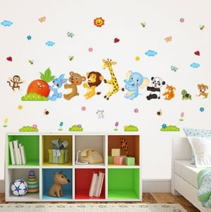 Decorative Wall Stickers Cartoon Animal Pull Out Radish Removable Home Decor Room Sticker Mural DIY Art Poster-XX