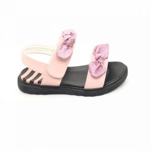 Buy stepping stones baby girls black glitter flower thong sandal ... 1e7d7db54e6d2