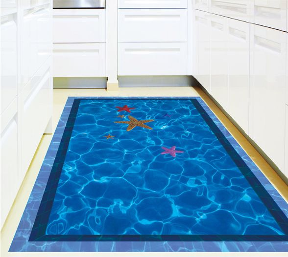 3d swimming pool large wall stickers home decor bathroom ...