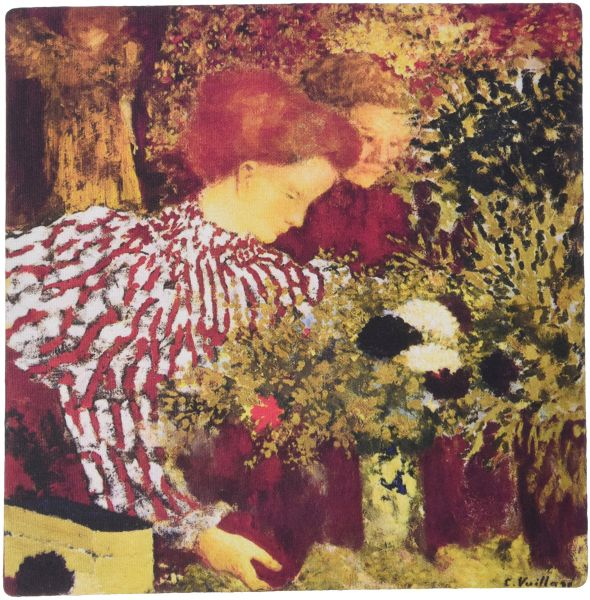 3dRose LLC 8 x 8 x 0.25 Inches Mouse Pad, The Striped Blouse By Edouard Vuillard (mp_149559_1)