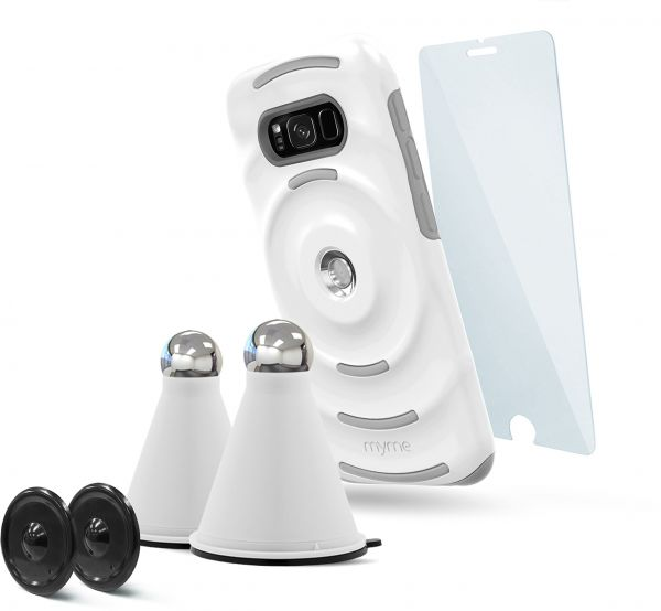 MyMe Unity System Bundle, Magnetic Car Mount with Dual Layer Protective  Case, Free Extra Cradle and Free Tempered Glass for Samsung S8 47167