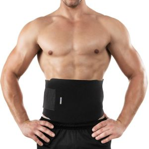 2d3c28a854f76 Waist Trimmer Trainer Belt Lifting Bodyshaper Brace Tummy Fat Burner For  Fitness Weight Loss Adjustable Size Low Back Lumbar Support for Men and  Women