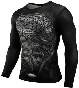 aa5f4c984bfa Mens t-shirt compression gym superhero avengers marvel muscle superman