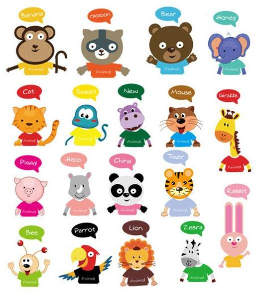 18 Pics Animal Stickers Animals Wall Switch Decor Decals Art Mural Baby Nursery Room