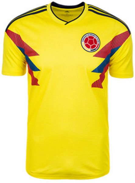65624857cd3 2018 World cup football clothing Colombia team jersey Personality short-sleeved  T-shirt fans M code