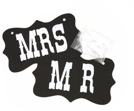 Mr And Mrs Photo Props Mr And Mrs Chair Signs Wedding Decorations