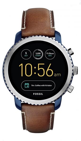 4c5cf4078e95 Fossil Smart Watch Leather Band For Android   iOS