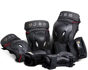 b882a11771d6a JBM BMX Bike Knee Pads and Elbow Pads with Wrist Guards Protective Gear Set  for Biking, Riding, Cycling and Multi Sports Safety Protection: Scooter, ...