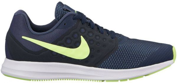 Nike Downshifter 7 BG Running Shoes For Boys - Navy Lime  fb127e84a0d
