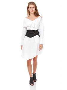 Miss Sixty A Line Dress For Women - White & Black