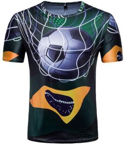Russia World Cup printed Personality Short Sleeve Souvenir T-shirts for  Brazil football fans -XXL 6de131f61