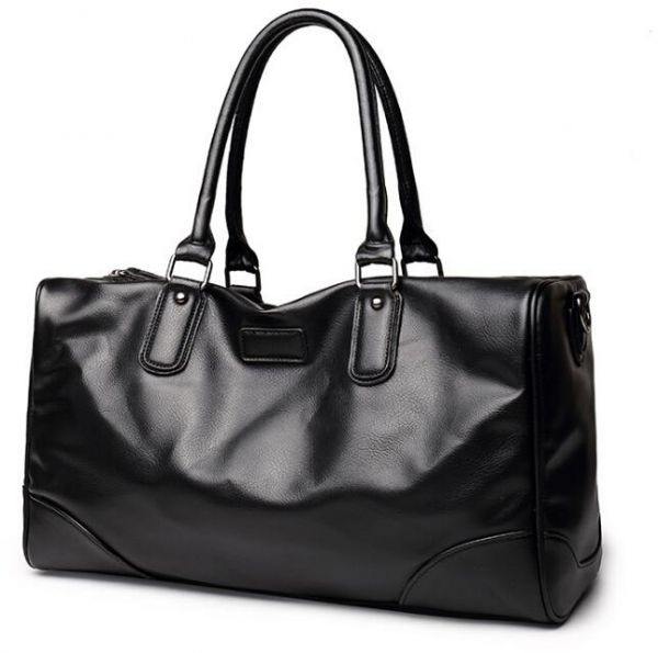 Leather Duffle Bag For Men Black Fashion Bags