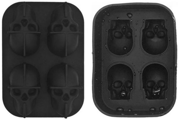 2 Pack 3D Silicone Skull Mold Ice Cube Mold