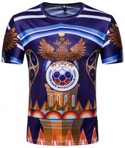 2018 Football World Cup Jersey Commemorative Personality Football Leisure  Sports Short-sleeved T-shirt XL code T28 2d29bac8f