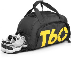 Travel duffel bag Fashion Foldable Bag Convertible Gym Bag Water Resistant  3 Ways CarrySports B  291b34d729db7