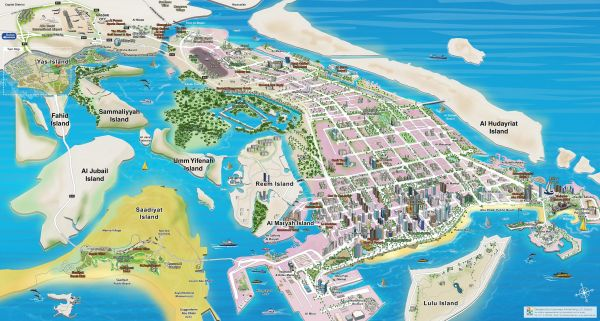 Abu Dhabi Map 3D Price in UAE | Souq | Office Supplies ...