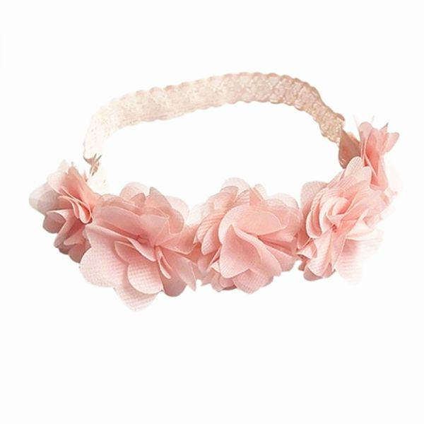 Flower Crown Headband Chiffon Flower Wreath Baby Girl Headbands