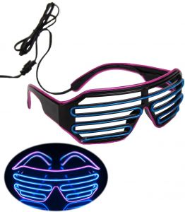 f1de6ce386 LED Cold Light Emitting Eye Glass Dancing Party Fluorescent Light  Eyeglass(Blue