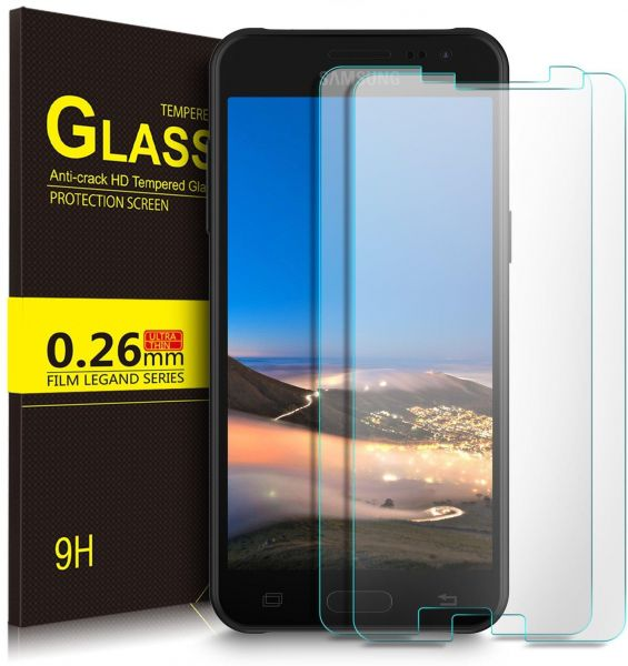 2 Pack Samsung Galaxy J6 2018 Tempered Glass Screen Protector Scratch Guard 9h Shockproof