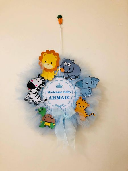 Newborn Baby Shower Door Wreath 40cm Size Souq Uae