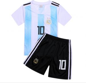 349930826 2018 World Cup Children Football Jersey Argentina Team No.10 Messi Football  suits T-shirt - XS code