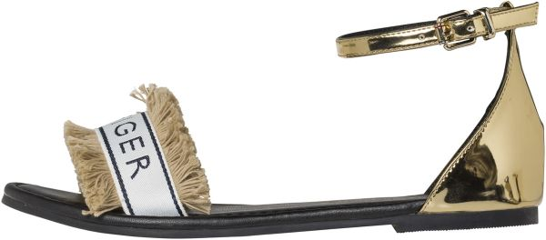 ee71b396f58e Tommy Hilfiger Flat Sandals for Women - Gold Price in Saudi Arabia ...