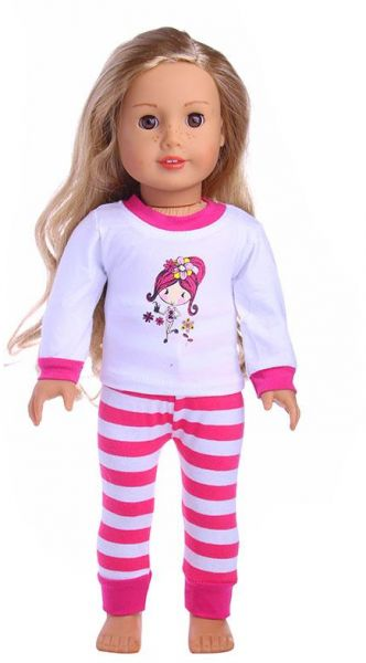 a55c1c4fb704 Fashion Set pajamas clothes accessories 18 inch American girl doll ...