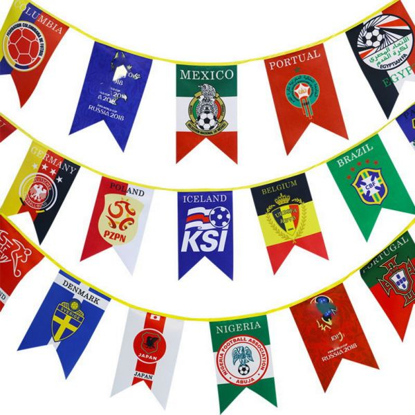 c6e35ecf746f 2018 FIFA World Cup Top 32 Hanging Banners International Flag ...