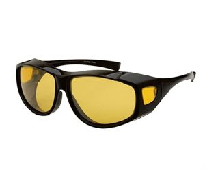 472ea3a001 Unisex Yellow Night Vision Driving Fit Over Glasses Wear Over Prescription Glasses  Sunglasses