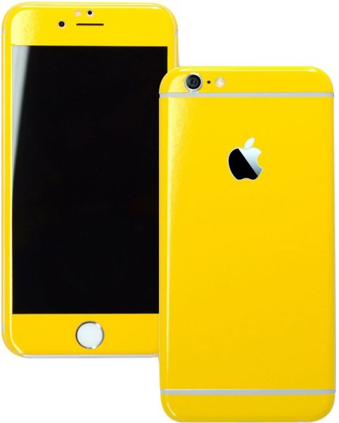 dfdd2c2d7d5bae Glossy Yellow Wrap Sticker Skin For Apple Iphone 6 Plus Covers Full ...