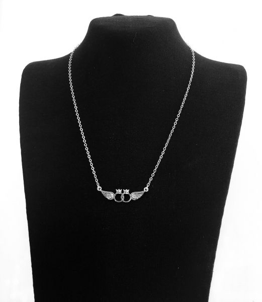 48b6b936f7bc0 Tiffany Wings Platinum Plated Necklace For Girls