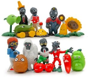 Model Of Plants VS Zombies Sixteen Figure As A Set Action Figures Toys Kids Christmas Gift Indoor Gifts Micro-Landscape Furnishings Dolls Hand Doll Key Ring ...
