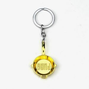 8c5a493cf3 Game Player unknown's Battlegrounds Cosplay Costumes Keychain Pans Weapon  Model Key Chain Necklace Pendant