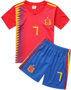 2018 Russia World Cup Children Football Jersey Spain Team No.7 Football  Sport suits - XL code b24104b6e