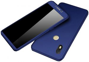 reputable site 8e041 b7e09 Infinix Hot S3 - X573 case 360 Degree 2 pieces Silicon products front And  back - Blue