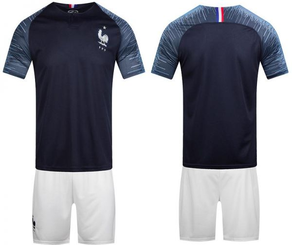 6247fe2e66a 2018 FIFA World Cup France Team Football Jersey suits Short-sleeved ...